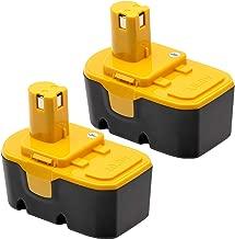 KINGTIANLE 2 Pack 3600mAh Ryobi 18V Battery Replacement Compatible with Ryobi ONE+ Ryobi P100 P104 P105 P110 130224007 High Capacity Cordless Power Tools 18 Volt Batteries