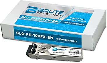 Brute Networks GLC-FE-100FX-BN - 100BASE-FX 2km MMF 1310nm SFP Transceiver (Compatible with OEM PN# GLC-FE-100FX)