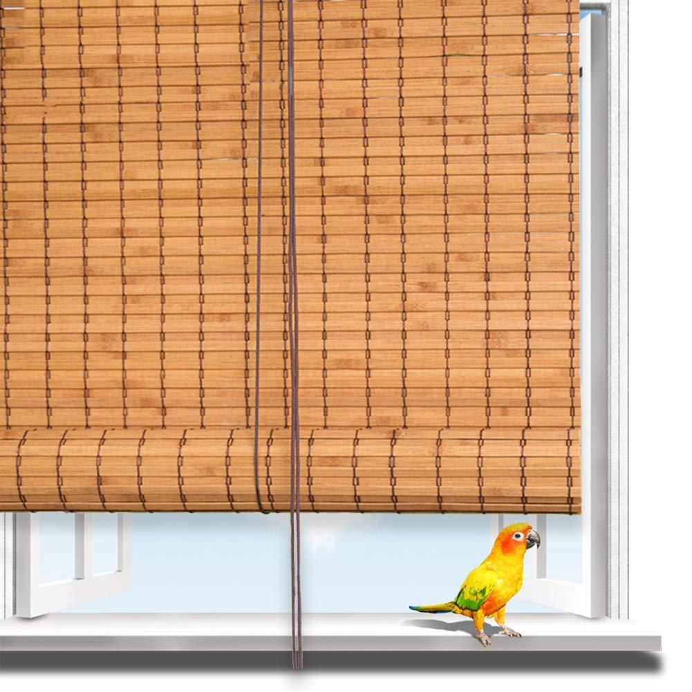 Estores Enrollable QIANDA Persianas de Bambu, Sombra del Jardín Bambú Ajustable Lado Vertical Panel De Pared for Patio/Pérgola/Ventana, Personalizado Tamaños (Color : A, Size : 110x220cm): Amazon.es: Hogar