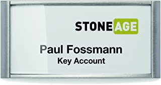 portanome adesivo in seta acetata Badgefix DURABLE 833402 bianco personalizzabile 40x75 mm 240 unit/à confezione da 20 fogli