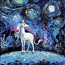 best gifts for unicorn lovers ~ wall print
