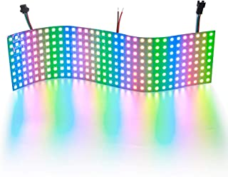 ALITOVE WS2812B Addressable LED Pixel Matrix Panel Light 832 256 Pixels Programmable Dream Color Digital 5050 RGB LED Display Screen DC5V Compatible with Arduino Raspberry Pi