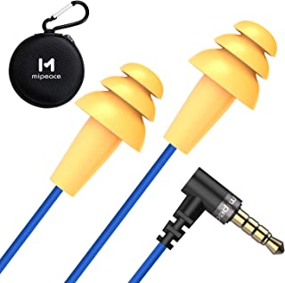 Work Earbuds, Mipeace Safety Hearing Protection Industrial Ear plugs Headphones-OSHA Approved Noise Reduction Earphones for Work Construction Motorcycle