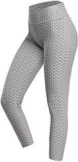Sim's Women's Yoga Pants, 3D Fabric Pants, Tummy Control High Waisted Design