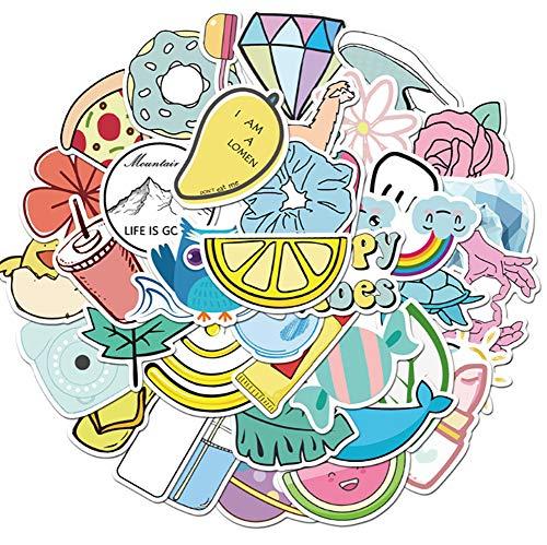 QIANGWEI Stickers, 50 stuks, modieuze cartoon vsco, meisjes, doe-het-zelf, bagagewagen, telefoongitaar, laptop, waterdicht, cool