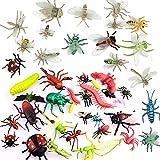 BESTZY 37pcs Insectos plástico para niños Figuras Insectos Juguetes con Pegatina Pared Colorida Mariposa para educación