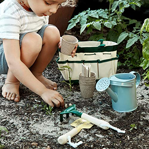 U+ME Kids Gardening Tool Set, Real Kids Garden Set, Eco Friendly Design | Outdoor Play | STEM Learning | Montessori Activities | Mini Things That Actually Work
