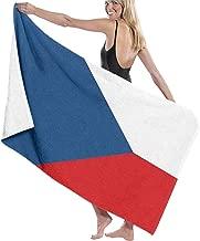 Zara Decor, Telo Mare con Bandiera della Repubblica Ceca, Asciugamano da Viaggio per Campeggio, Sport, Yoga, Nuoto, Palestra, Asciugamano da Bagno ad