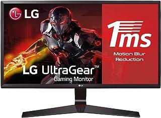 "LG 24MP59G-P - Monitor Gaming de 60,4 cm (23,8"") Full HD (1920 x 1080, IPS, 16:9, DisplayPort x1, HDMI x1, D-SUB x1, AUX x1, Antireflejo), Negro"