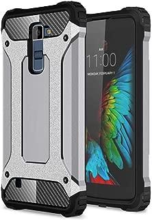 DEVMO Phone Case Compatible with LG K10 K410 K420 K425 K430 MS428 Hard Plastic Shell Case/Shockproof Hard Bumper/Protective Cover Grey