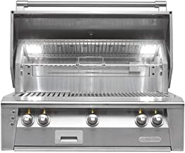 """Alfresco ALXE-36-LPNG 36"""" Standard Grill Natural Gas Built In w/ 82500 BTUs and Integrated rotisserie system with built-in motor in Stainless"""
