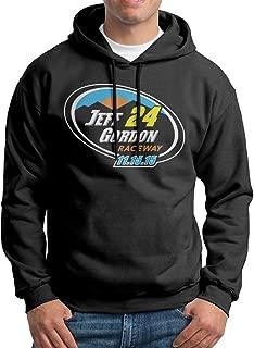 Edgechic Jeff Gordon Raceway Mens Pullover Black Hooded Sweatshirt