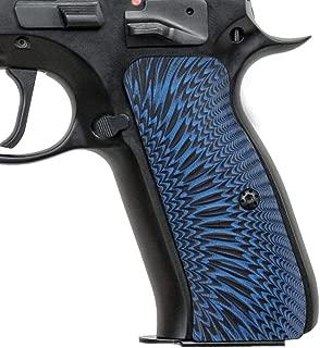 Cool Hand G10 Grips for CZ 75 Full Size, Sunburst w/Punisher Skull Texture