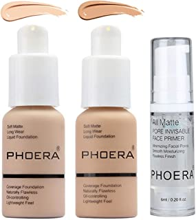PHOERA 30ml Foundation Liquid Full Coverage Matte Oil