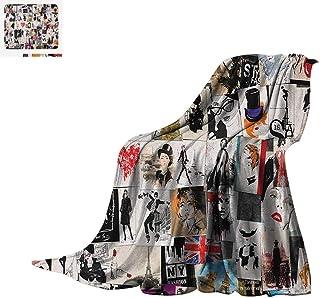 WilliamsDecor Girls Blanket Party Theme Splashing Dancing Girls Abstract Illustration Artistic Design Pattern Warm Microfiber All Season Blanket 50x30 Multicolored Kids' Bedding
