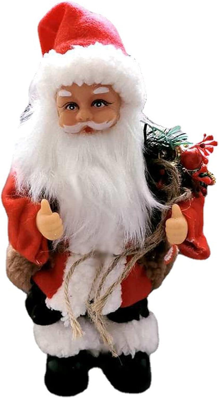 CYGG DirkFigge Papá Noel eléctrico a Pilas, música de Baile, muñeco de Papá Noel, Adornos navideños, Adornos de Halloween, Adornos navideños, para Decorar Patios, Jardines, Fiestas, Porche