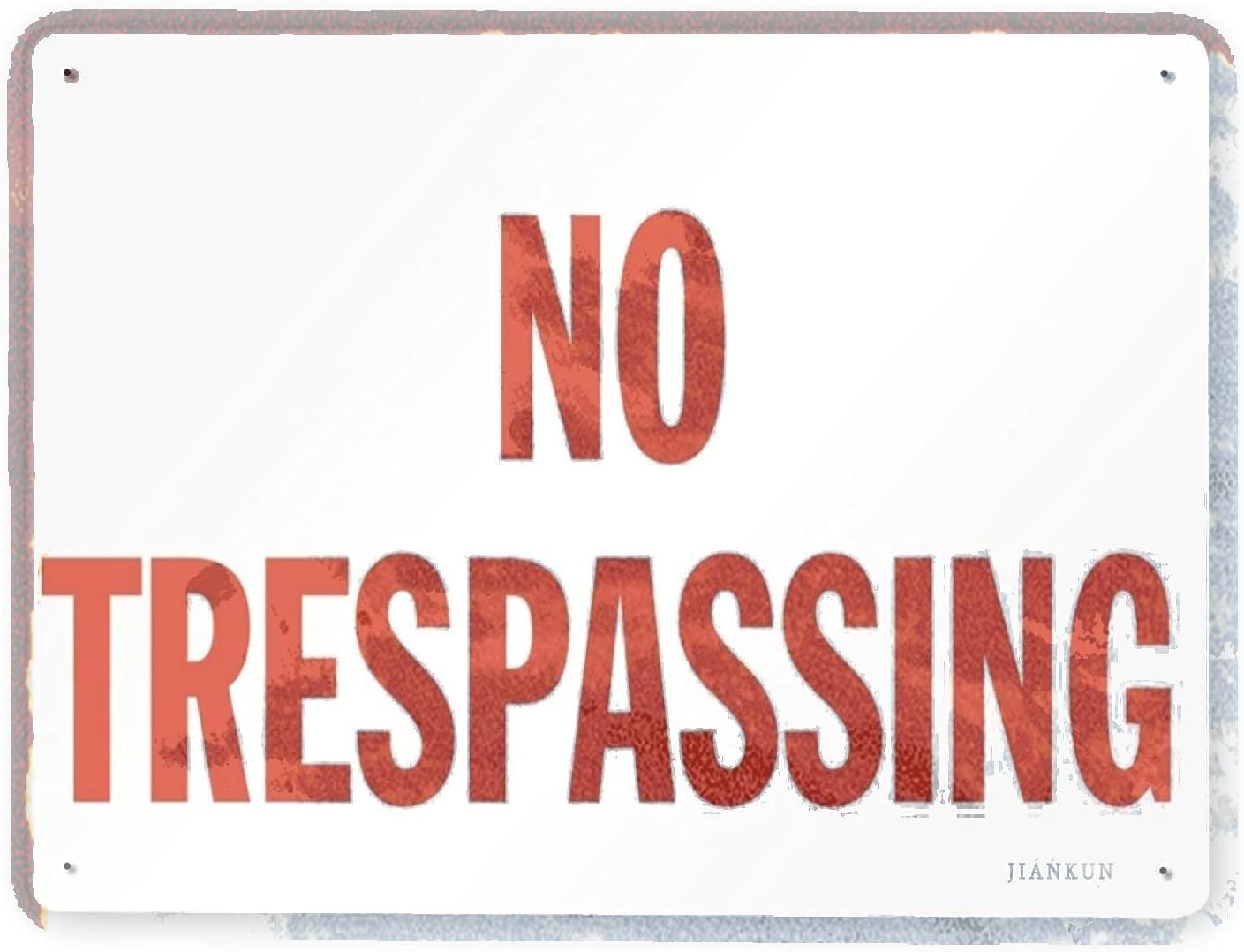 Max 49% OFF J.DXHYA Man Cave Decor Max 85% OFF 2 Pieces Trespassing no Hori Warning Sign