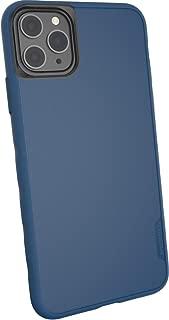Smartish iPhone 超薄手机壳 - 功夫握把【轻质 + 防护】薄盖(丝绸)SLK-BG19P-TEAL iPhone 11 Pro Max 蓝*图案