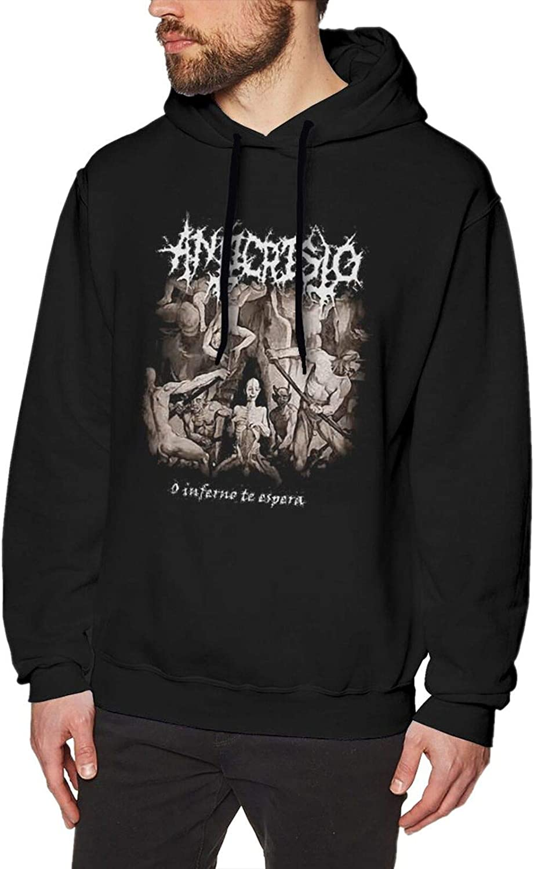 Teen New Free Shipping Men Necrophagist Hooded Sweatshirt Pullover Max 81% OFF Swe Long Sleeve