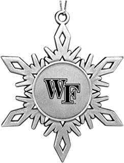 LXG, Inc. Wake Forest University|Snowflake Ornament|Pewter