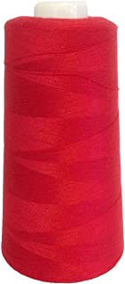 Sewing Serger Thread EcoLock 100% Spun Polyester New Coats 3000 Yards Cone Many Colors (Red)