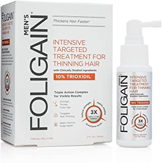 FOLIGAIN Triple Action Complete Formula for Thinning Hair For Men with 10 Pure Trioxidil (2oz)