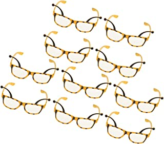 MagiDeal 10 Pieces Fashion Funny Bee Party Glasses Honeybee Eyeglasses Adults Kids Costume Fancy Dress Hen Night Eyeglasses Accessories