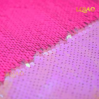 hot pink sequin material