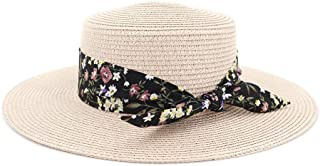 Sun Hat for men and women Summer Hats For Women Sun Hat Female Panama Beach Visor Flower belt Straw Flat Bucket Hat Femme
