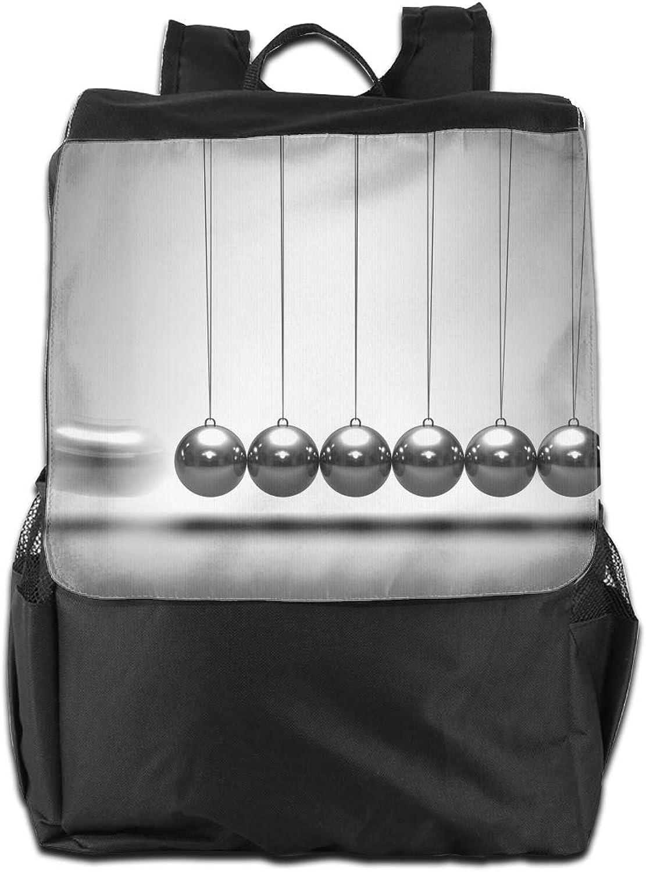 Physics Fundamentals Pendulum Printed Girls Backpack Lightweight Casual Shoulder Bag School Daypacks