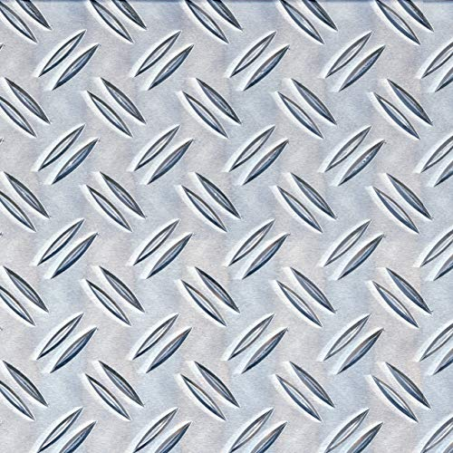 GAH-Alberts 466756 Strukturblech | Riffel-Prägung | Aluminium, natur | 250 x 500 x 1,5 mm