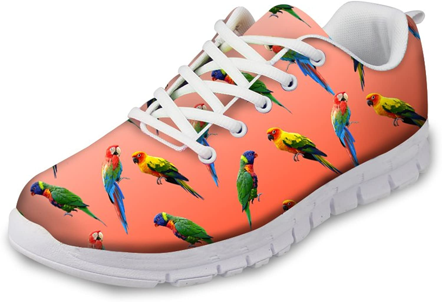 Bigcardesigns Fashion Parred Print Running shoes Lace-ups Sneakers Women Ladies Casual Breathable Trainers Lightweight Sport shoes