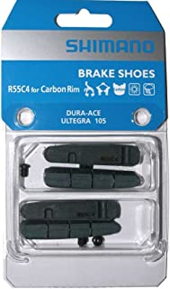 2 Pairs of Shimano R55C4 Brake Pads for Carbon Rim (Dura Ace, Ultegra, 105) Road Bike Brake Pads