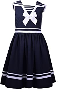 Girls' Little Fit and Flare Nautical Dress