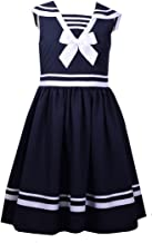Bonnie Jean Girls' Little Fit and Flare Nautical Dress
