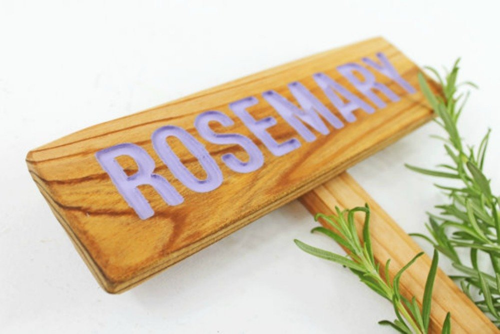 ROSEMARY Max 87% OFF Garden Sign Painted Deluxe Sealed Cedar Routed Hand Wood: