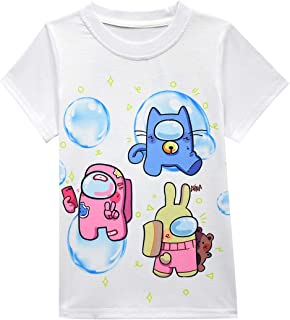 Jimdan Boys Graphic T-Shirts 3D Summer Shirt Casual Tees