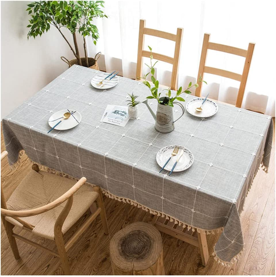 Tablecloth Tassel Dust-Proof 135x295cmTable Quality inspection W Linen Cotton Cloth Tucson Mall