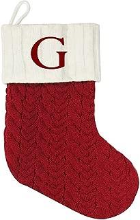 St. Nicholas Square Mini Cable Knit Stocking-Letter G, Mini 7