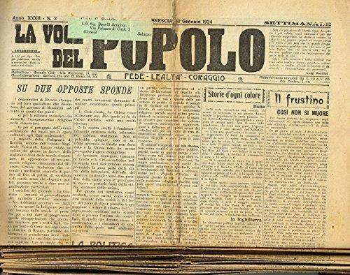 LA VOCE DEL POPOLO. SETTIMANALE CATTOLICO ANNO XXXII N.2-3-4-5-7-9-10-12-13-16-21-23-26-27-35-36-40-44-47-49.