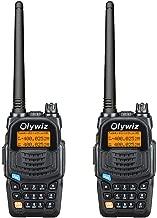 Olywiz UV6S High Power Dual Band Amateur Two-Way Radio Transceiver 128 Channel UHF VHFFM Radio 2000mAh Battery CTCSS DCS VOX Long Range 2 Way Radio Walkie Talkie Pair