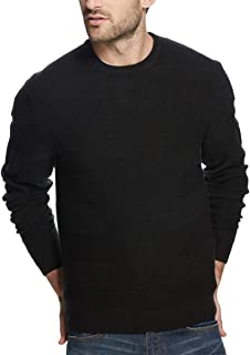Weatherproof Mens Sweater Small Crewneck Textured Knit Black S