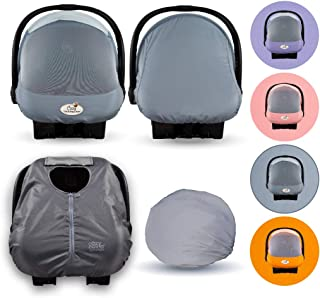 Cozy Combo Pack (Glacier Gray) – 'Sun & Bug' Cover Plus a Lightweight Summer 'Cozy Cover' - Trusted by Over 6 Million Moms Worldwide – Protects Your Baby from Mosquitos, Insects, The Sun, Wind