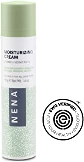 NENA Moisturizing Cream   Natural Lightweight Cream for Face with Jojoba Oil, Aloe and Nourishing Minerals   Hydrating & Soothing   EWG Verified   Daily Facial Cream for Oily, Dry, Sensitive Skin