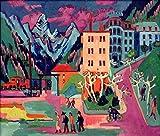 Kunstdruck/Poster: Ernst-Ludwig Kirchner Bahnhof Davos -
