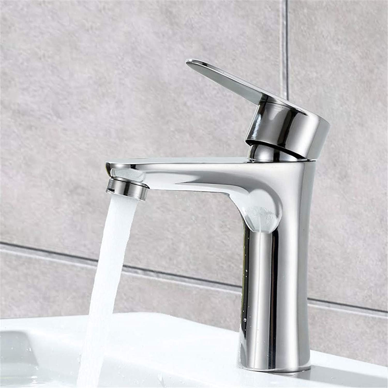 LHY BATHLEADER Sink Mixer Tap, 304 Stainless Steel Chrome Hot and Cold Bathroom Wash Basin Sink Faucet with Ceramic Filter and Honeycomb Bubbler
