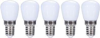 ZFQ 5 Unidades E14 3W Bombillas LED Plástico para nevera/campana de cocción, 300LM 6000K Blanco Frío Ángulo de haz de 360° luz de noche pequeña, Equivalente 30W Halógena, AC 220V, No Regulable