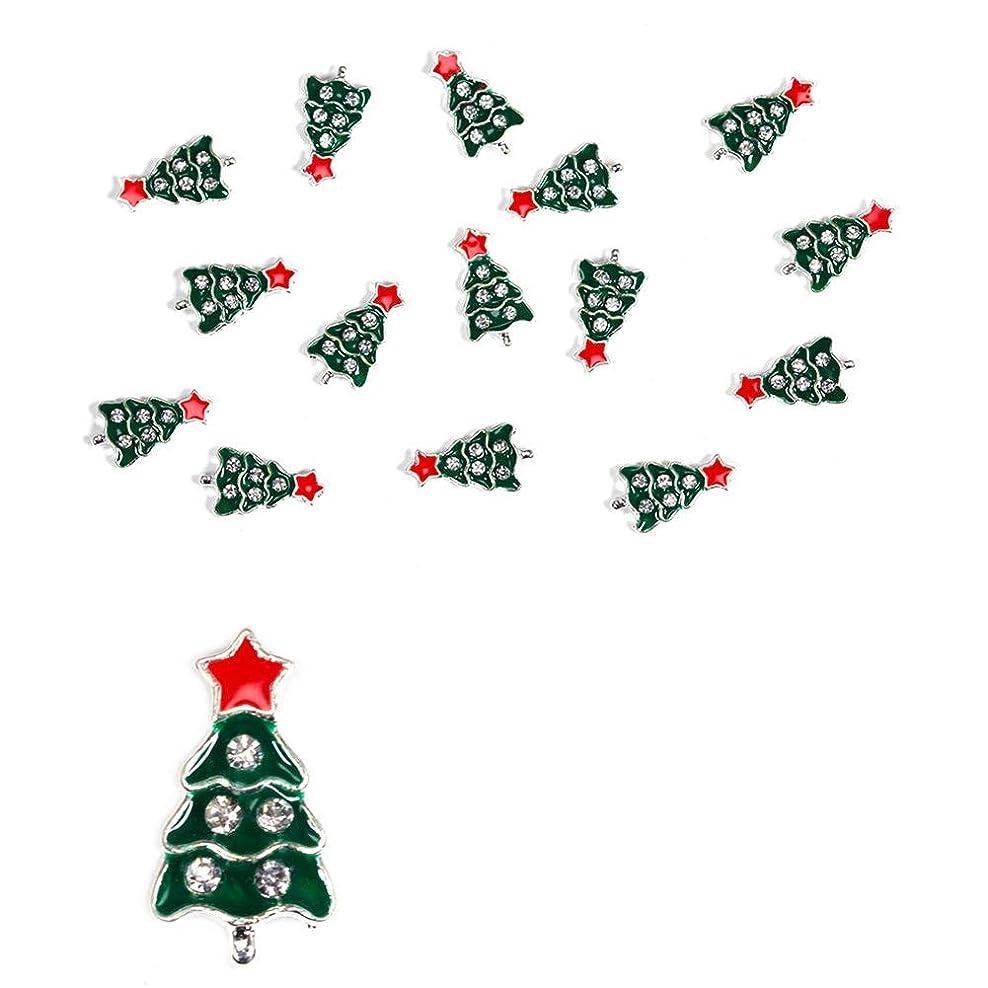 ネイルアートデコレーション ラインストーン クリスマス 合金 ネイルステッカー ネイルシール 手作り DIY手芸 UVレジン 10枚セット 星 3D ネイルパールパーツ おしゃれ ネイルアート 14スタイル選択可 クリスマスツリー(11#レッドスタークリスマスツリー)