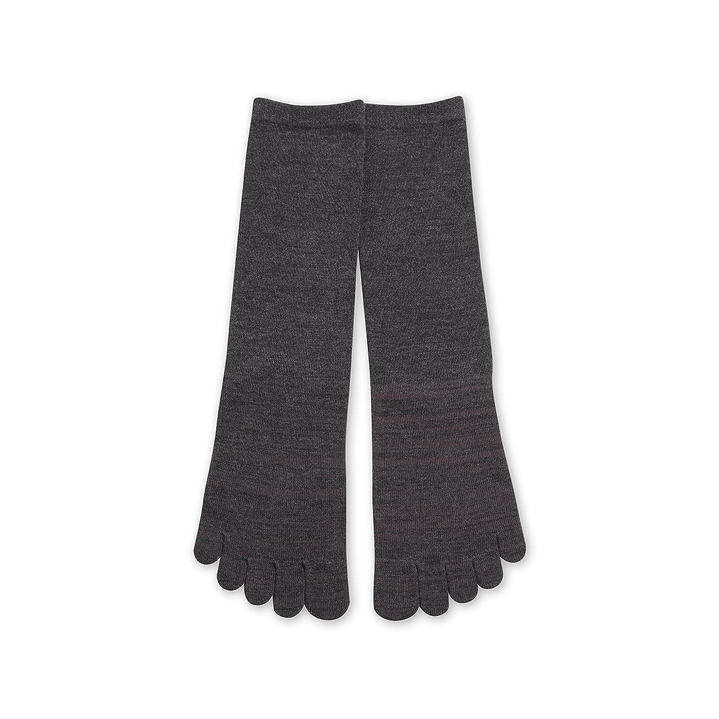 あたたかい親密な白内障Deol(デオル) 5本指 ソックス 男性用 靴下 25~27cm グレー