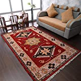 Rugsotic Carpets Hand Knotted Afghan Wool and...